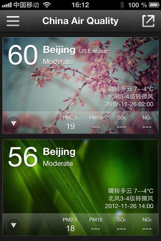 Besonders hohe Werte bei der Luftverschmutzug schickt die App auf Wunsch auch als Push-Meldung