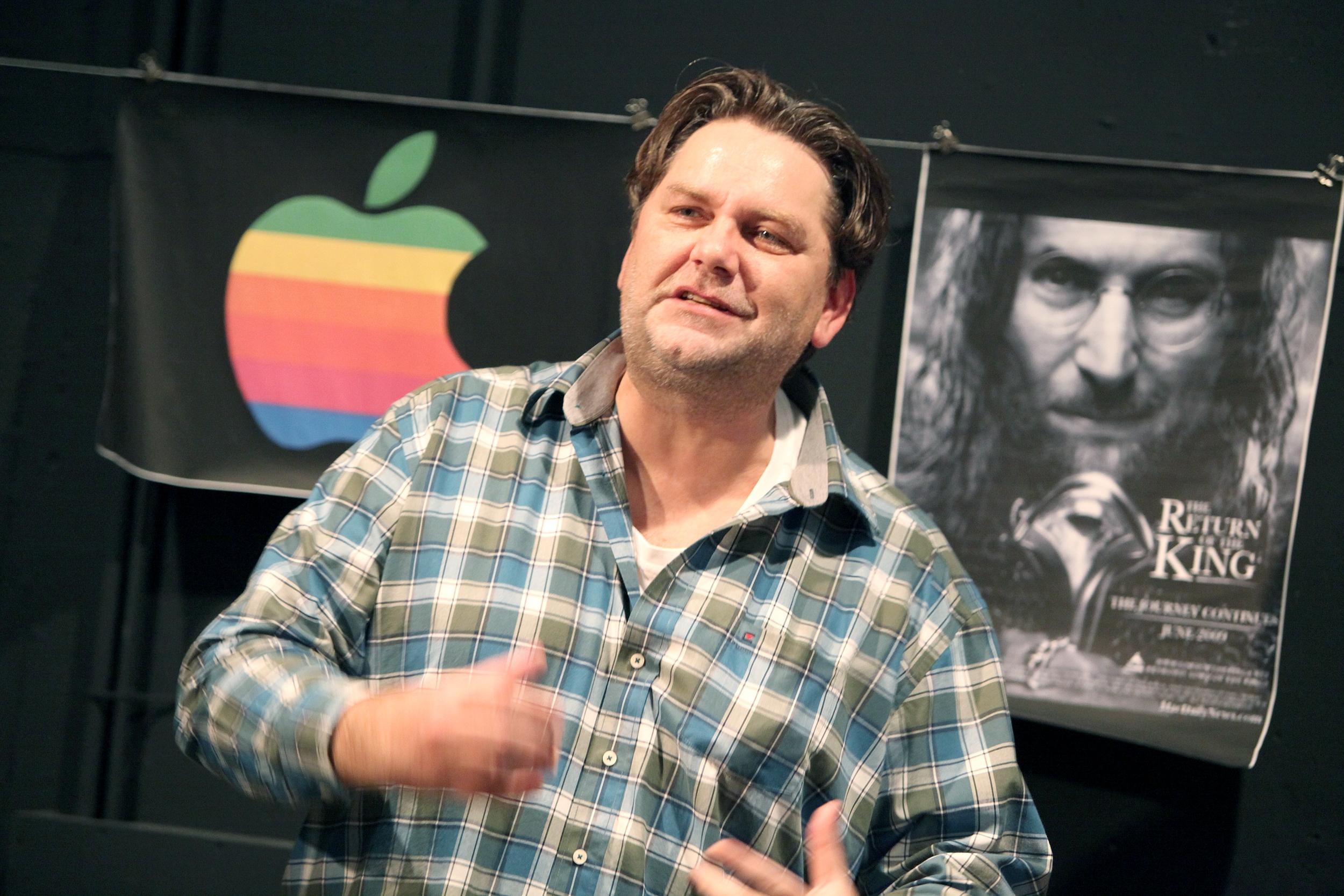 """Andreas Beck in """"Die Agonie und die Ekstase des Steve Jobs"""" (Foto: Theater Dortmund)"""