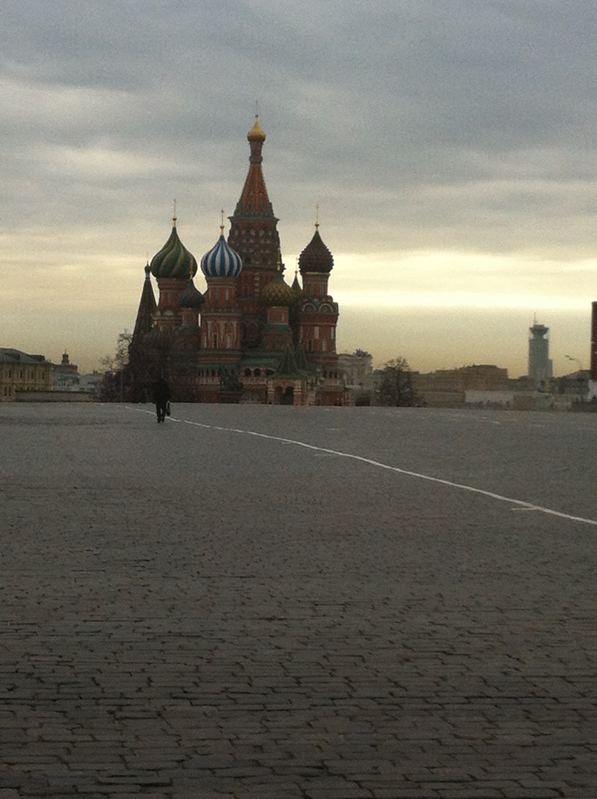 Die Basiliuskathedrale und der Rote Platz.