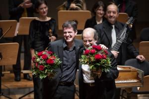 Philipp Jaroussky (links) und Dirigent Andrea Marcon. (Foto: Pascal Rest/KOnzerthaus Dortmund)