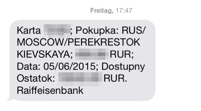 SMS transliteriert