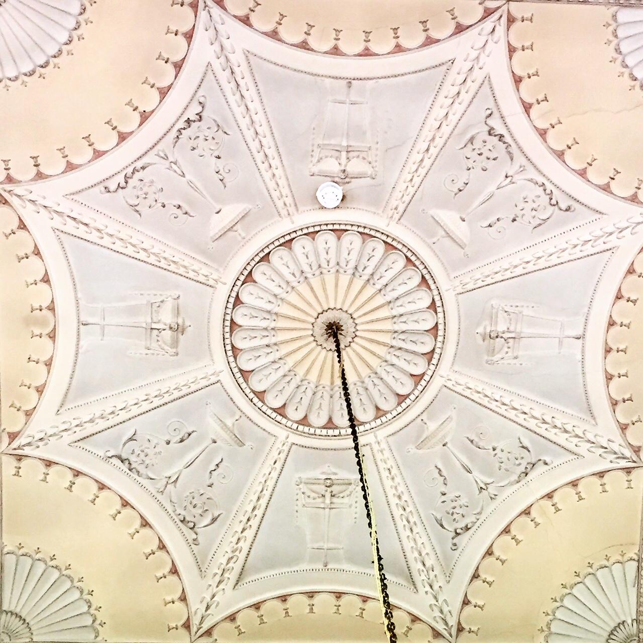 Milton Abbey Ballroom Ceiling