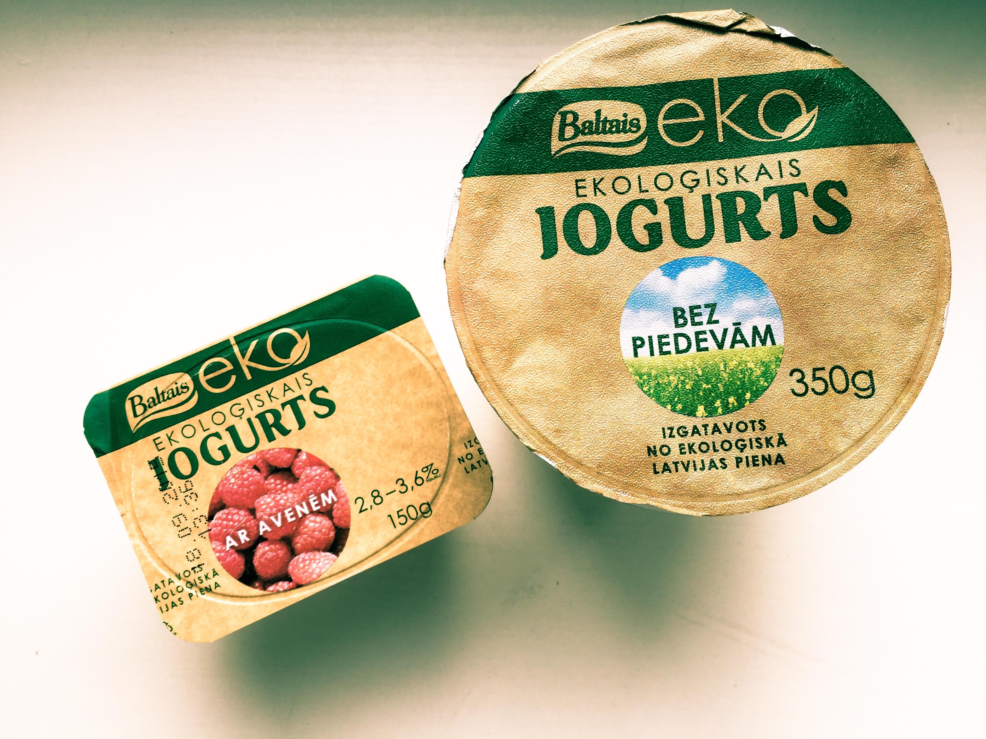 Ja, das ist lettischer Joghurt. Nein, den bekommt man in Moskau nicht mehr.