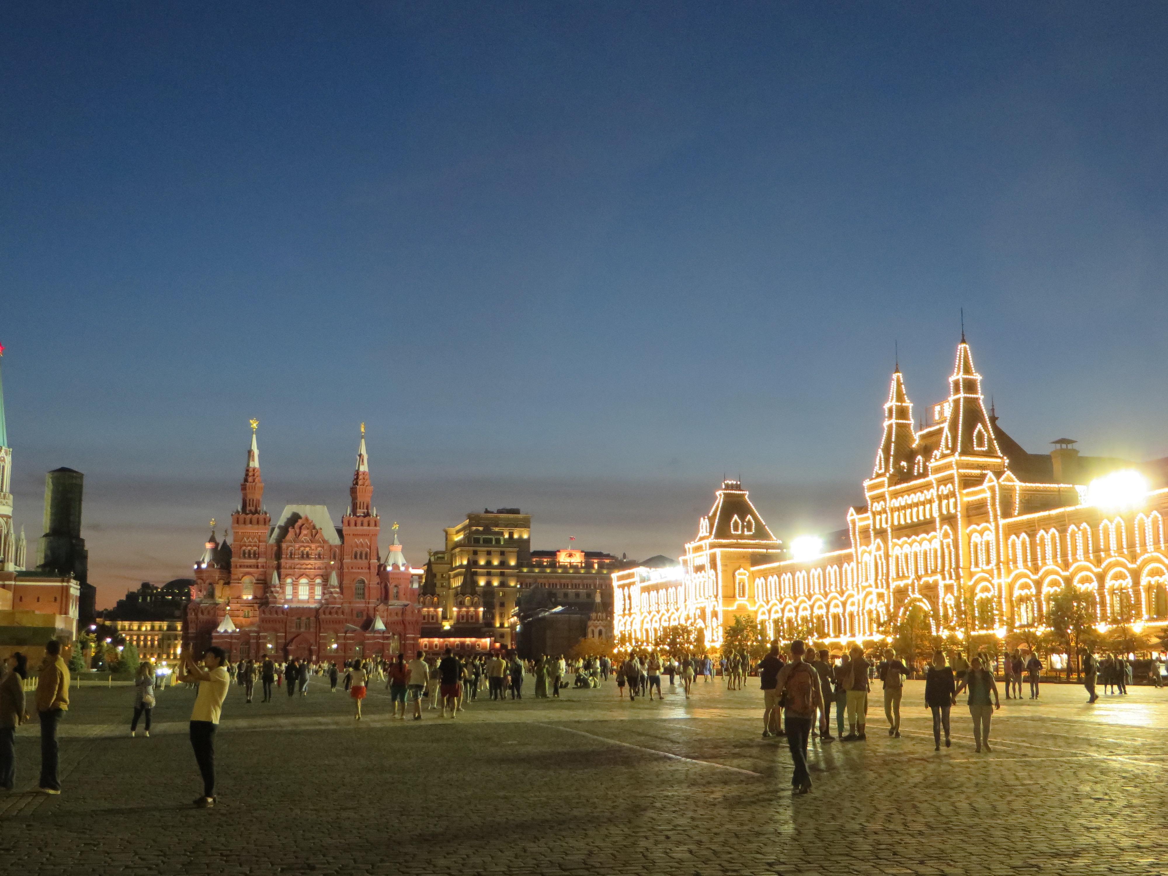 Der Blick aufs GUM vom Roten Platz