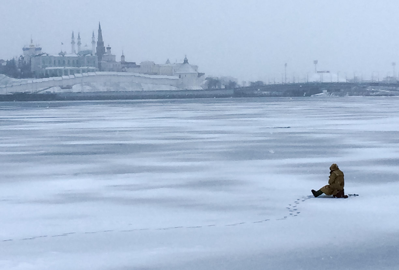 Kasan Russland Eisfischer 2