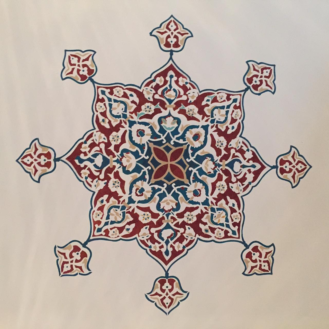 Moskau Moschee Decke