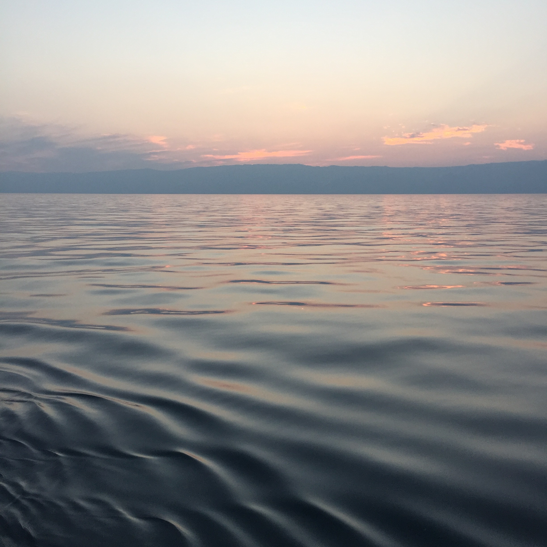Baikalsee Wasser Abendrot