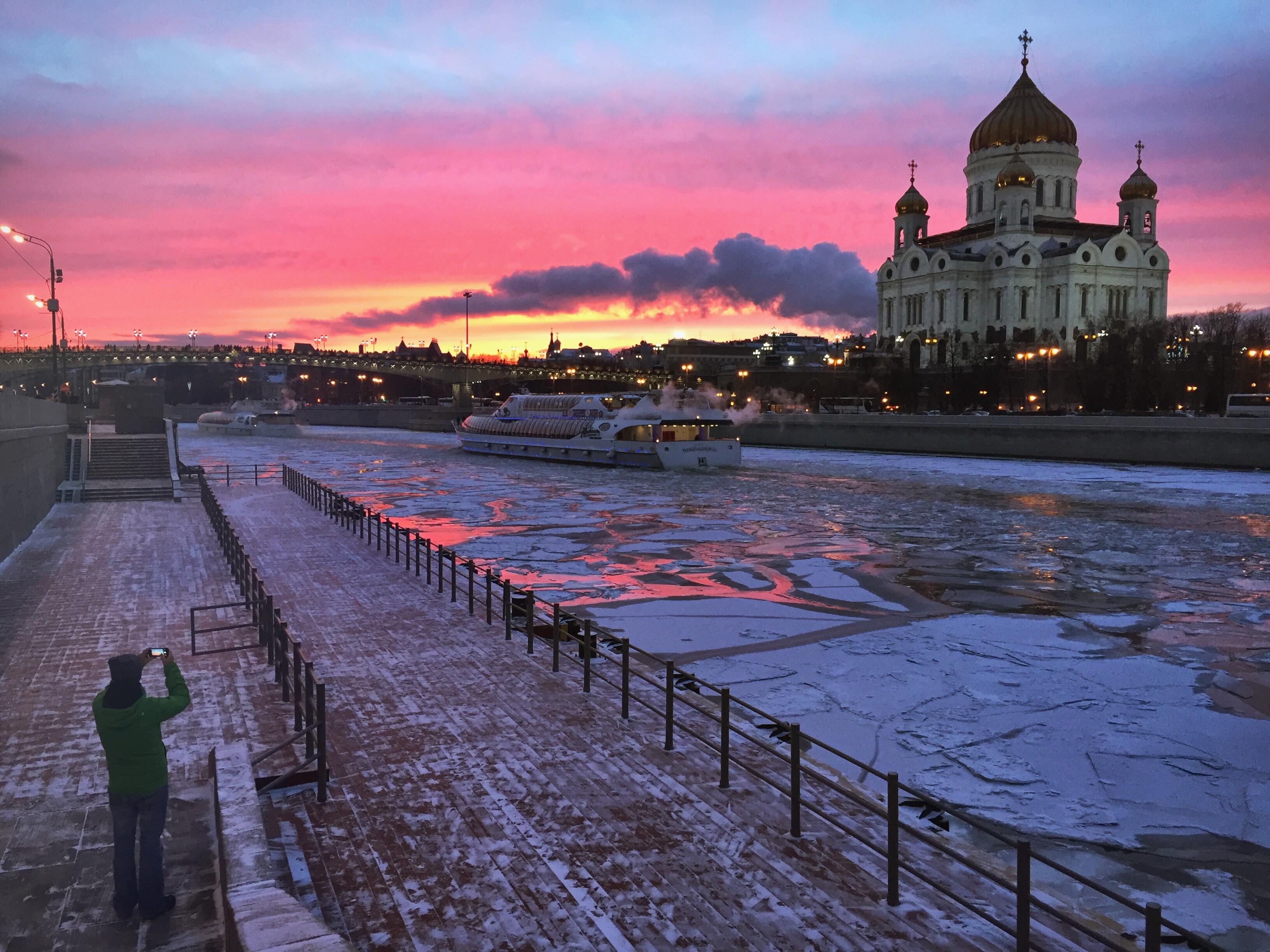 Moskau Winter Erlöserkathedrale