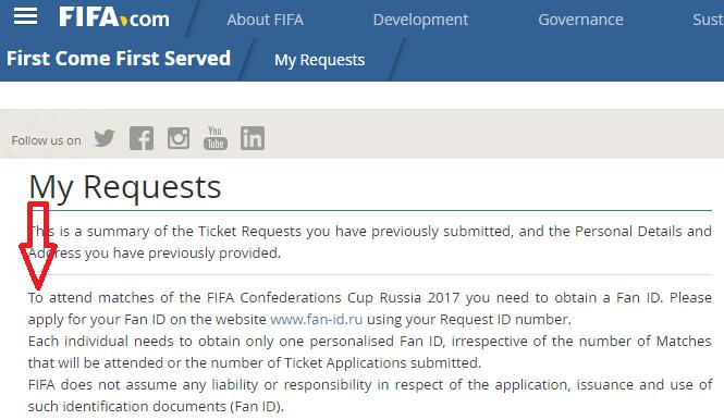 FIFA Russland FAN-ID