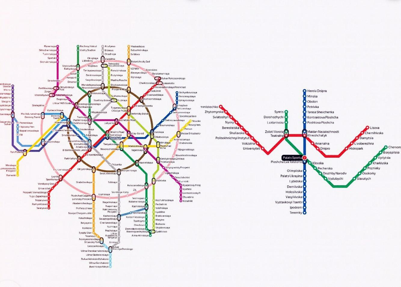 Metroplan Moskau und Kiew