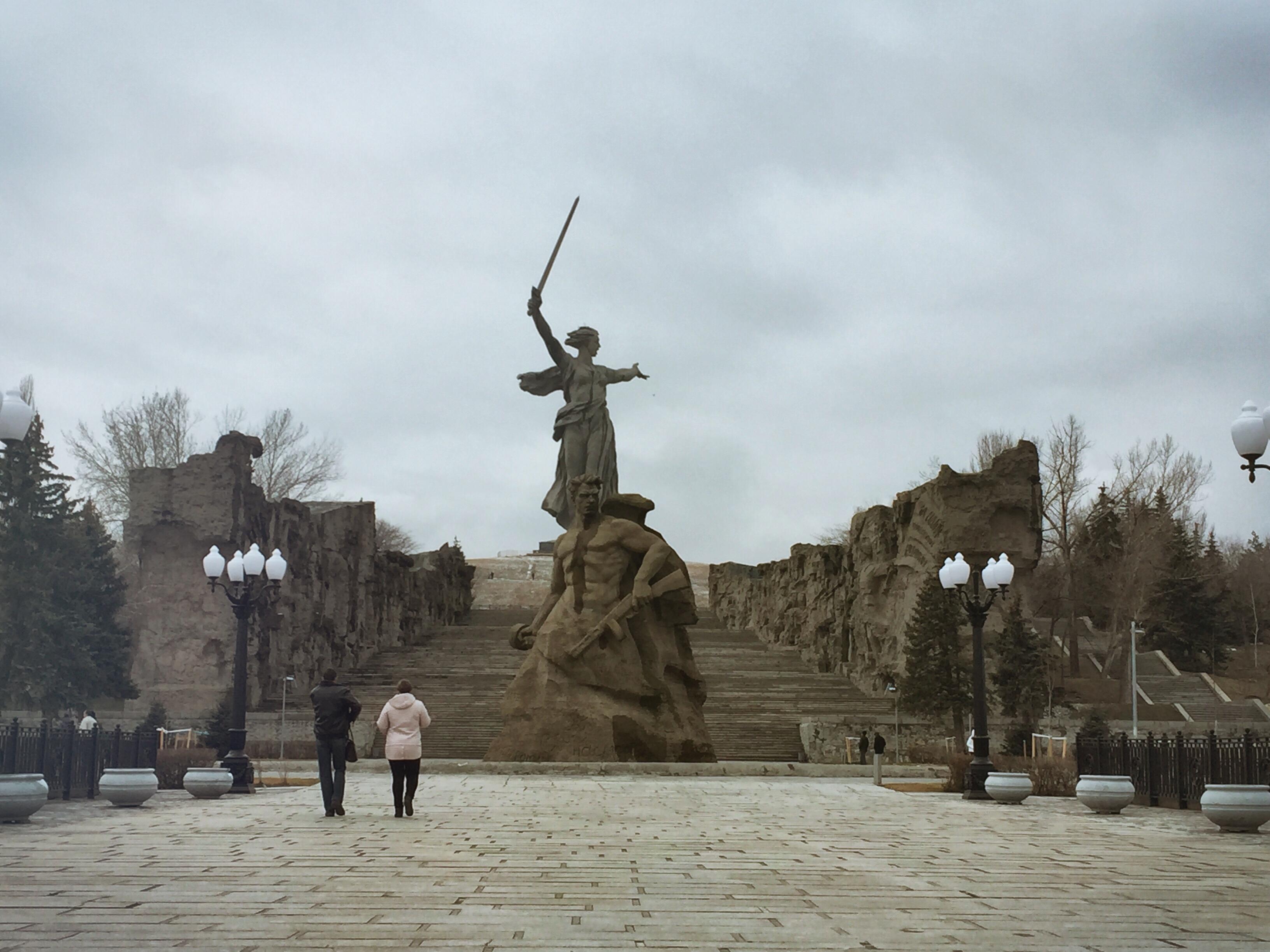 Die Mutter-Heimat-Statue in Wolgograd