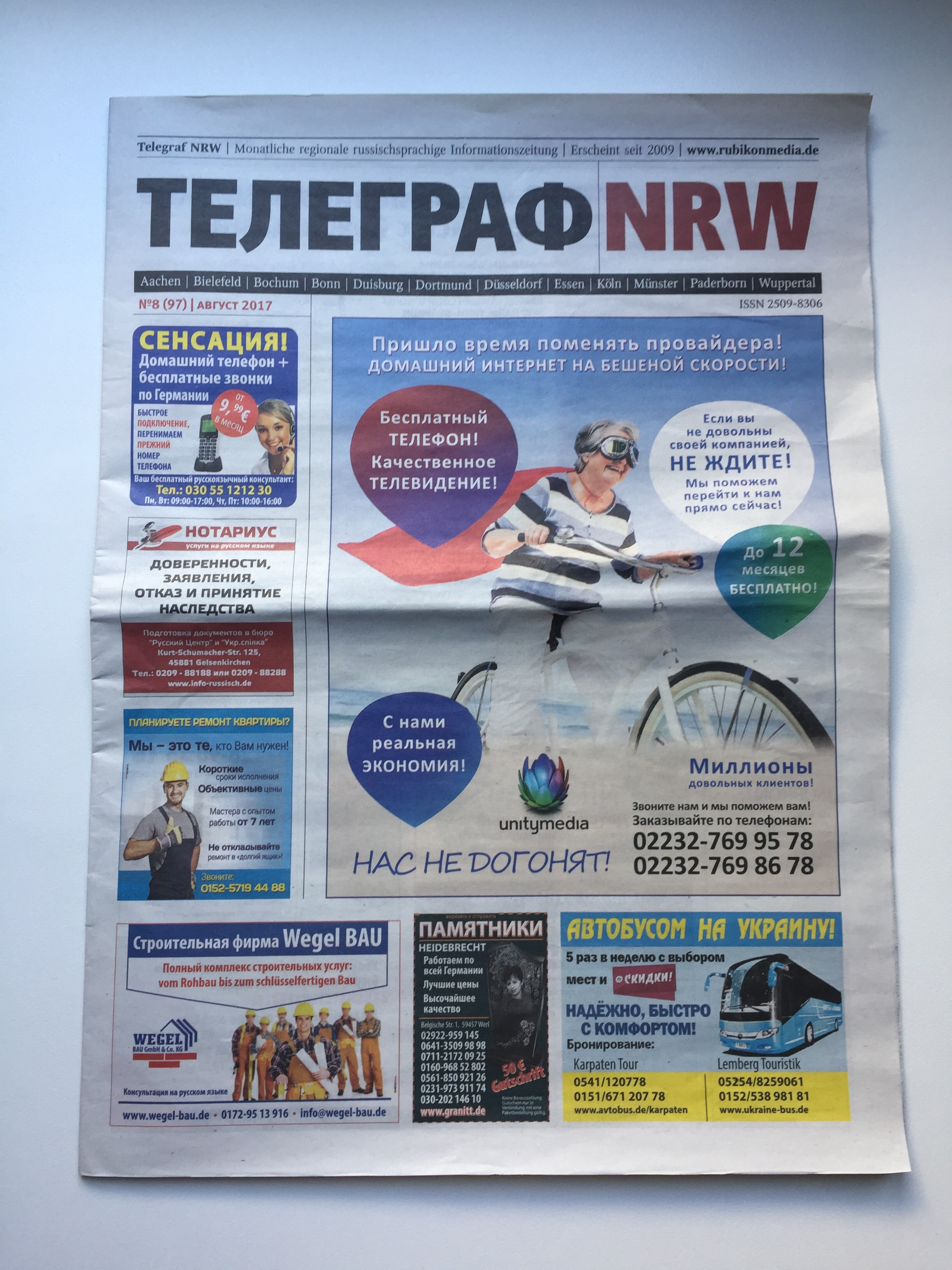 kscheib telegraf NRW Titelseite