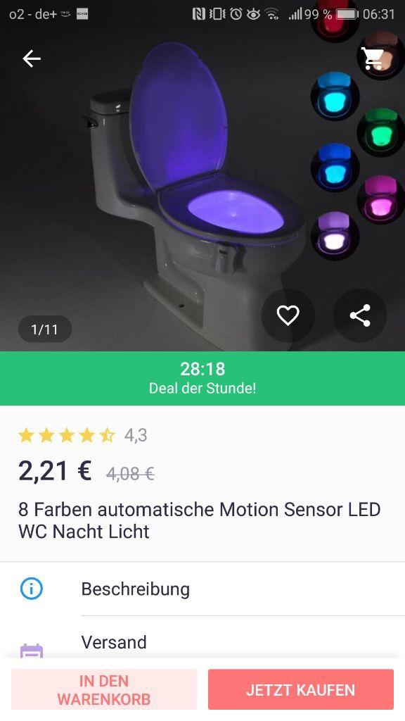 kscheib joom adventskalender WC-Beleuchtung