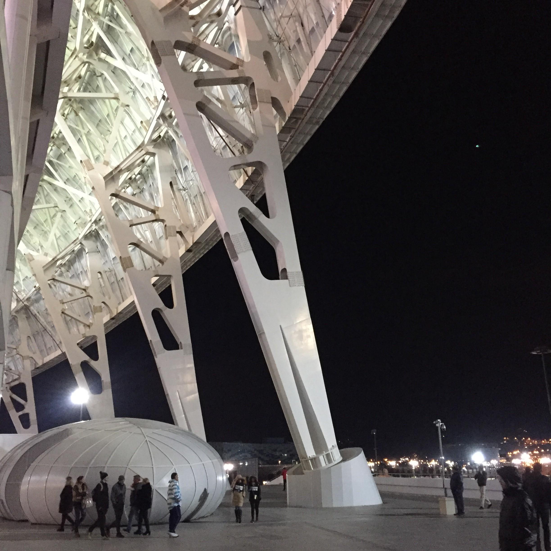 Halbzeitblick aus dem Fischt-Stadion aufs Schwarze Meer