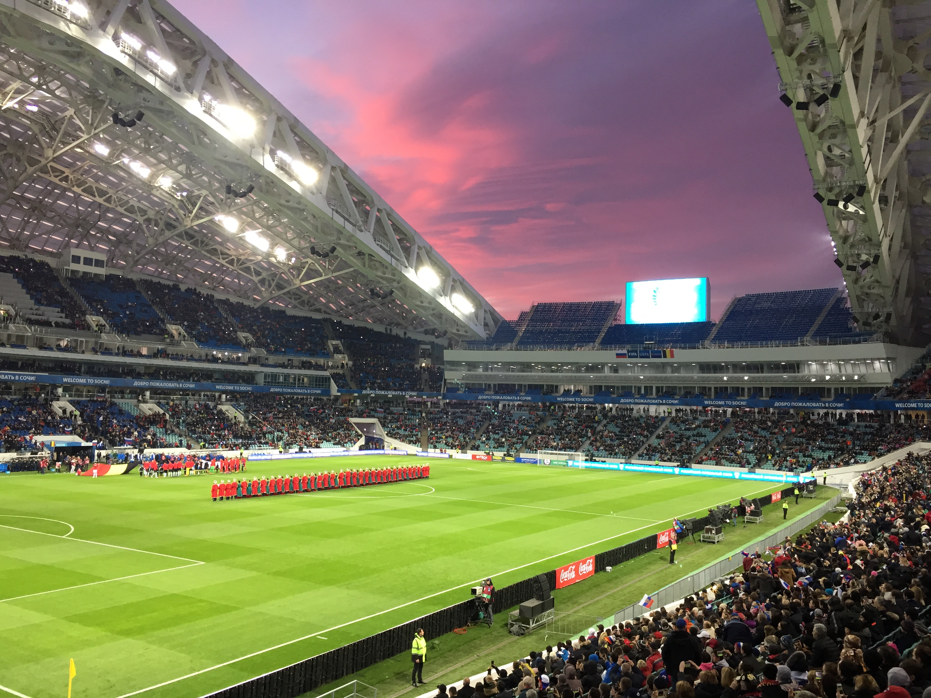 Abendspiel beim Confed-Cup im Fischt-Stadion
