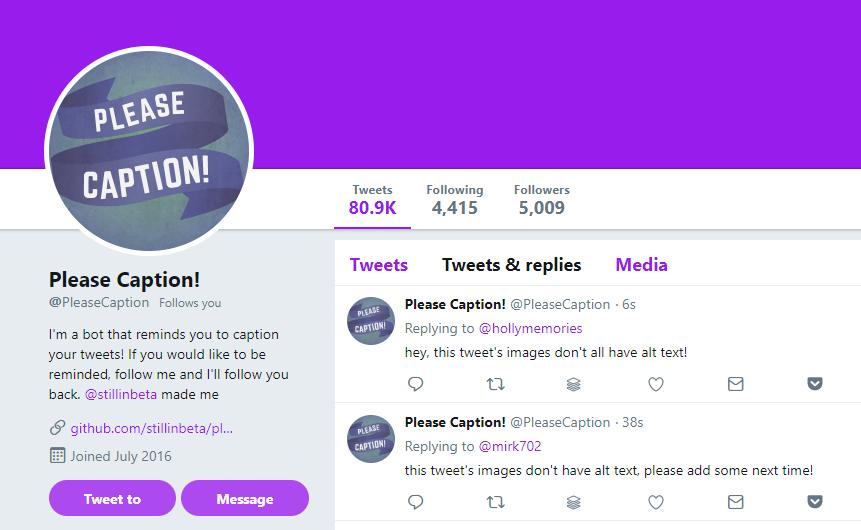 Ein Screenshot des @pleasecaption-Accounts