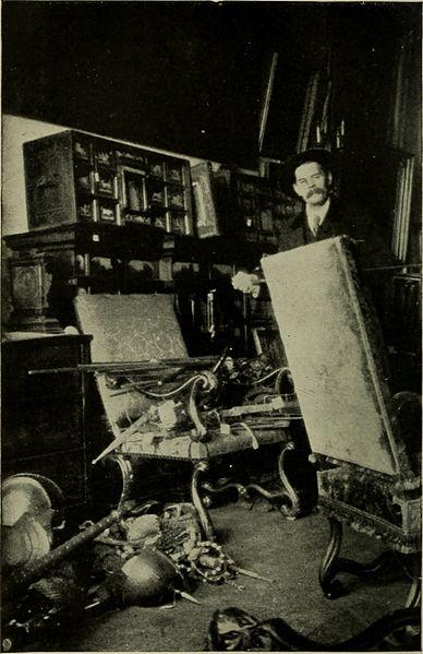 Maxim Gorki in dem von Wells beschriebenen Depot in der früheren britischen Botschaft