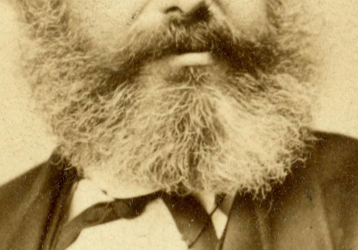 Der Bart von Karl Marx im Jahr 1867 (Wikicommons)