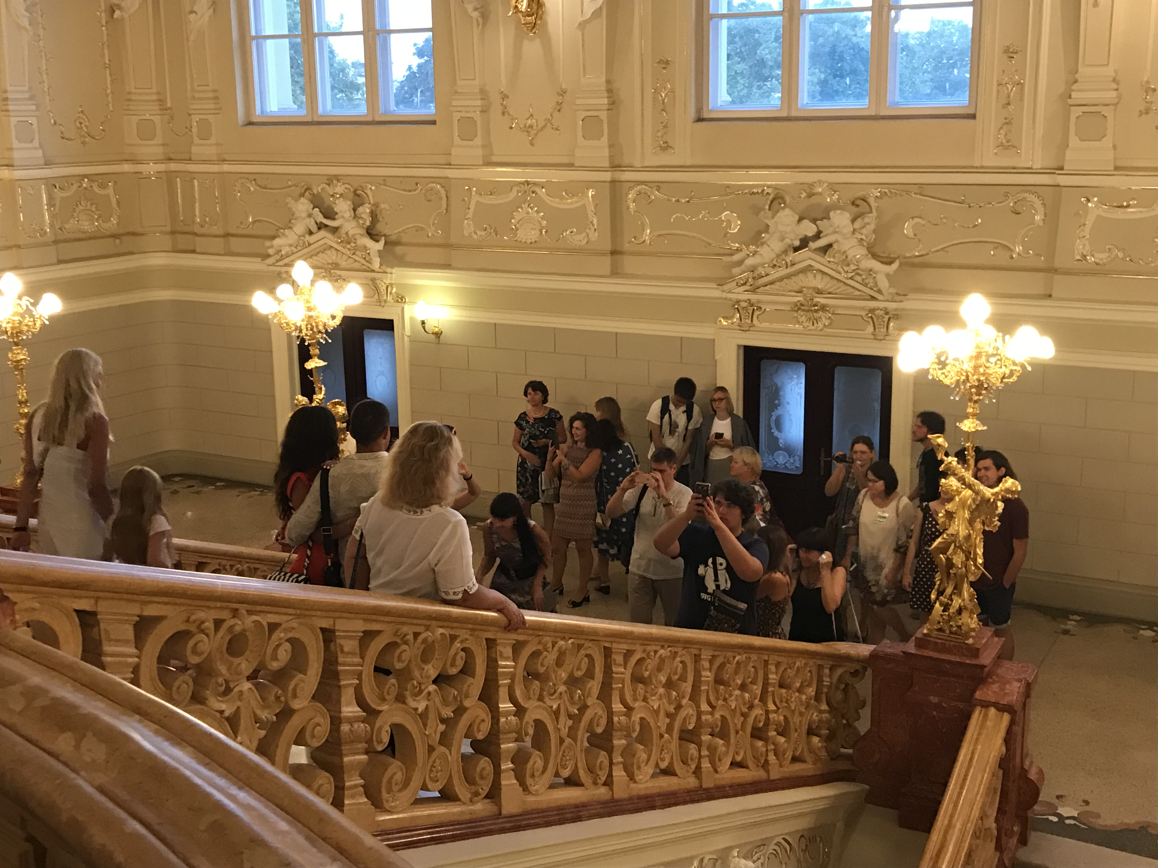 Odessa Opernhaus Treppe Selfies