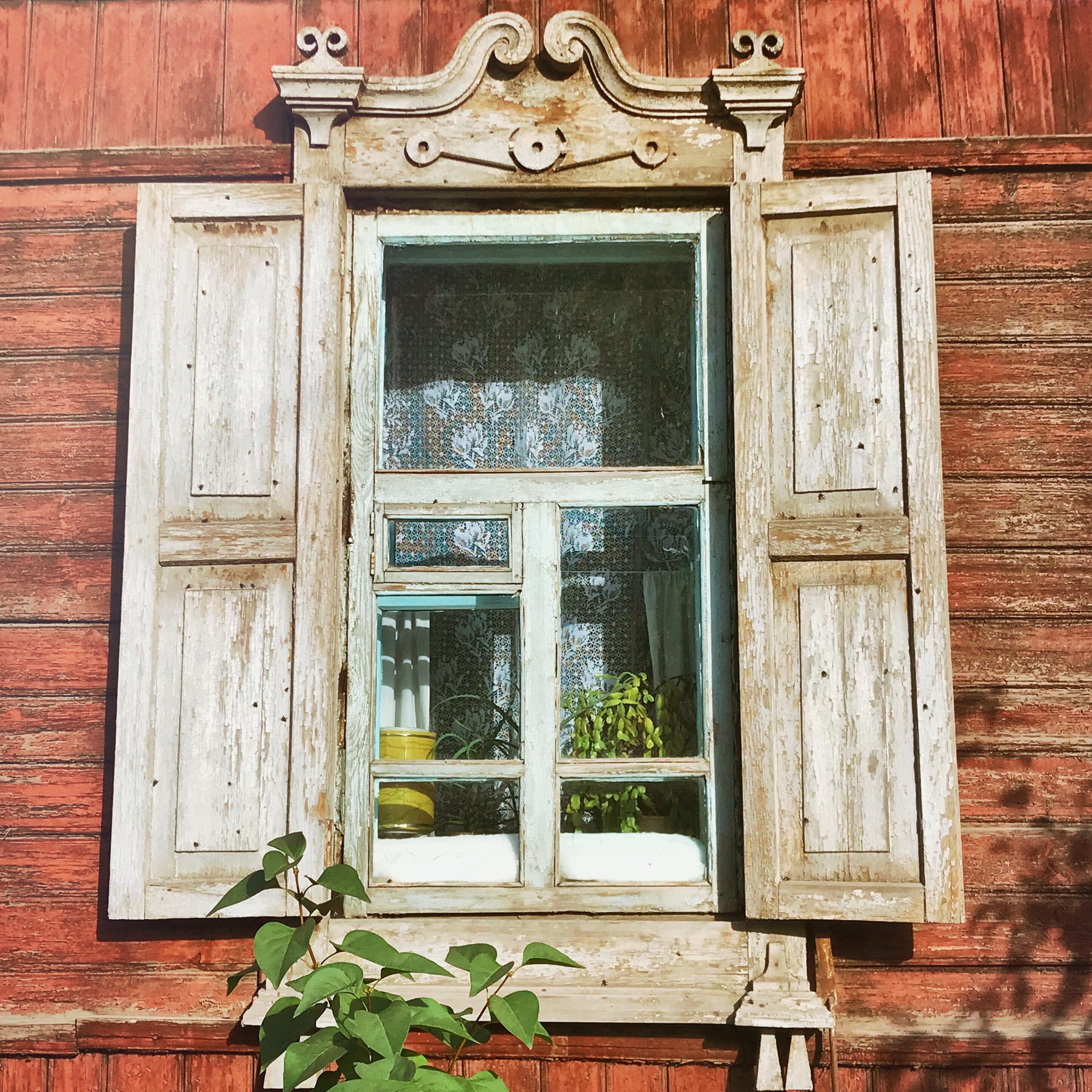 Sibirien Holzhaus Fenster 2