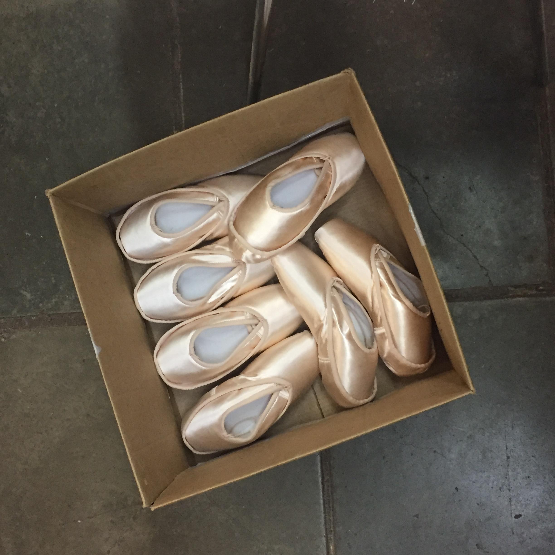 Balletschuhe in Ballettschuhfabrik