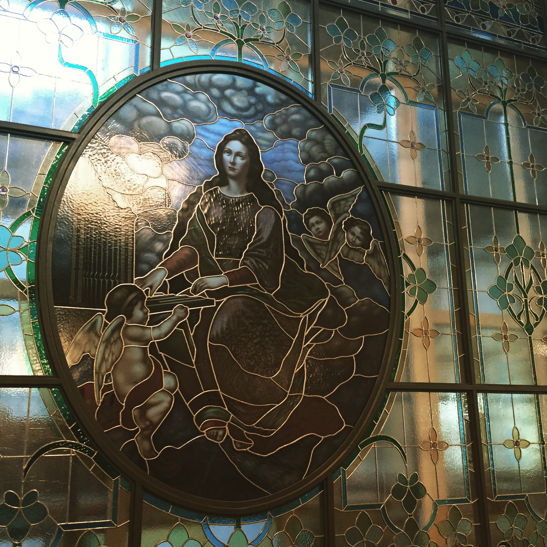Bleiverglastes Fenster im KOnservatorium