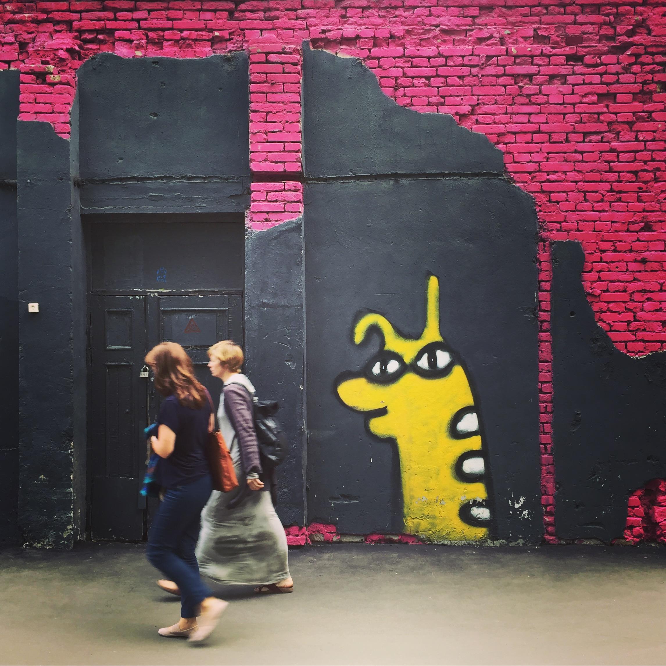 Graffiti auf dem Flakon-Gelände