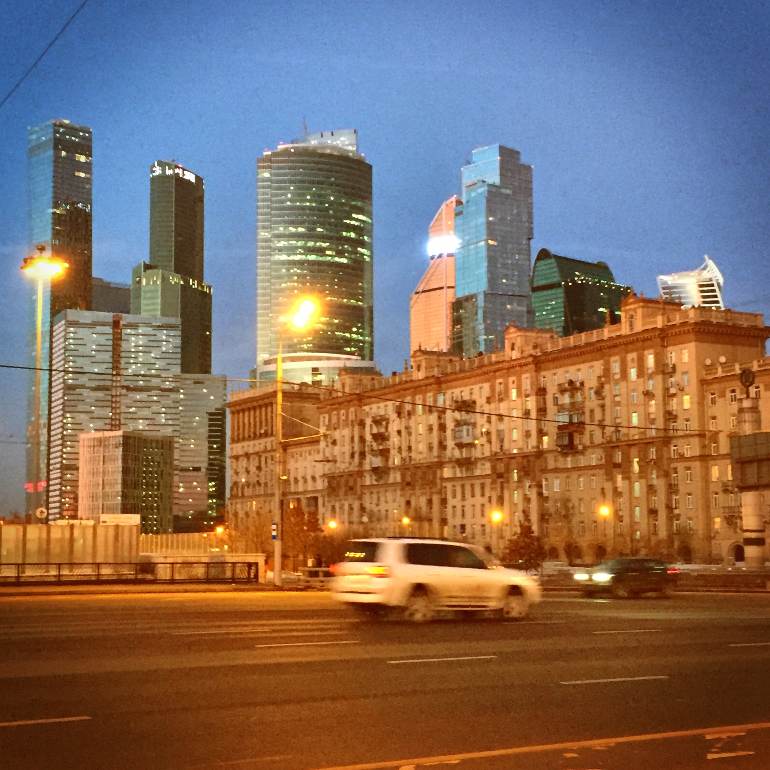 Moscow City beleuchtet