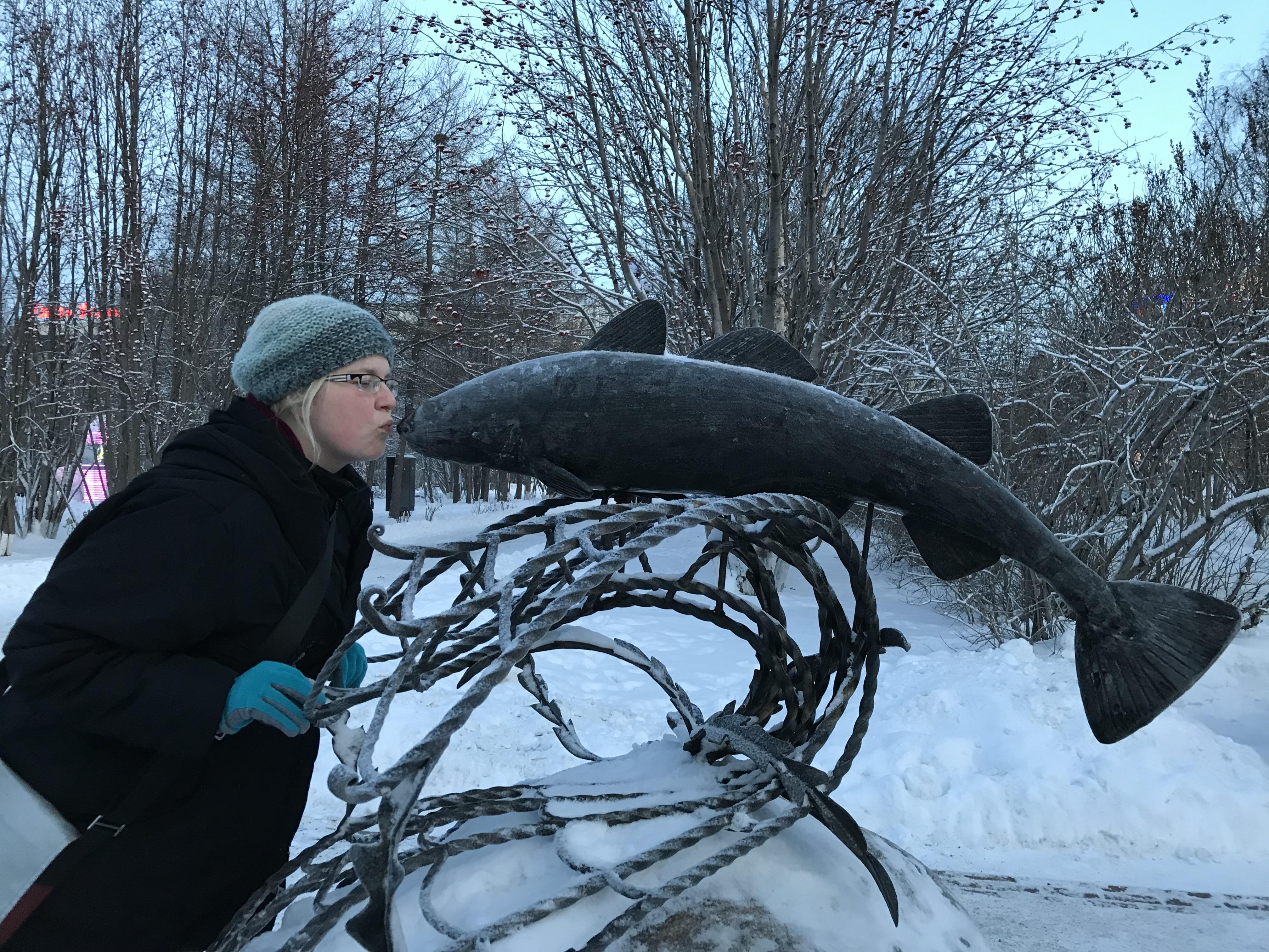 Murmansk Denkmal für Kabeljau